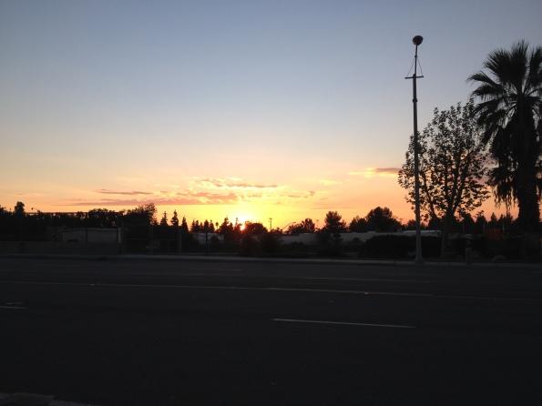 Puesta de sol, Riverside, California